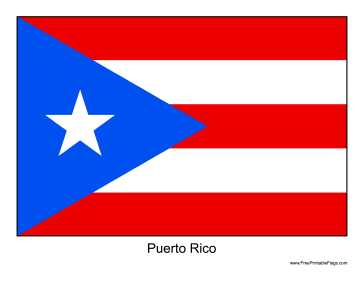 Gratifying image pertaining to printable puerto rican flag